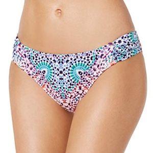Bar III Women's Printed Side-Tab Hipster Bikini